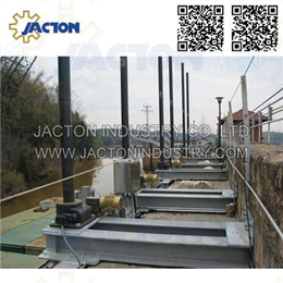 Sluice gate gearbox lifting gear jack system