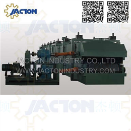 Curing oven lift adjustment for rock wool production lines