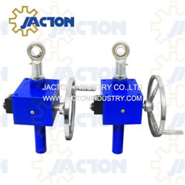 50 kN trapezoid-type screw jack with hand wheel and position indicator
