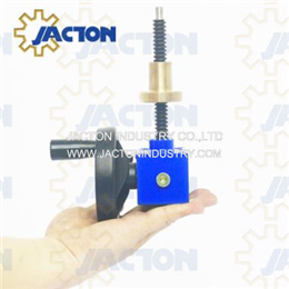 2.5 kN mini hand crank screw jacks 100mm manual worm gear small 20 1