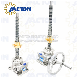 stainless steel hand wheel machine screw actuators 2.5 tons capacity